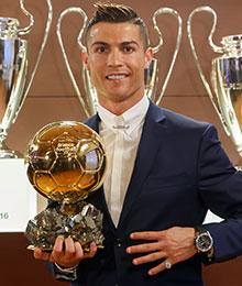 克里斯蒂亚诺·罗纳尔多,2016年金球奖得主